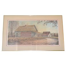 Jim Harrison 'Disappearing America' Limited Edition Signed/Numbered Framed Art Print