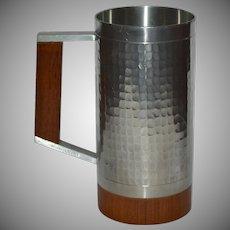 Selangor Hammered Pewter & Wood Tankard or Stein Mug