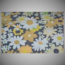 Black & Orange Halloween Flower Twin Flat Sheet