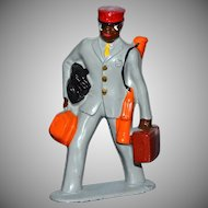 1930s Barclay African American Porter Lead Toy Figurine