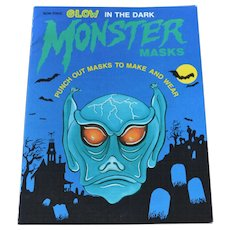 Glow in the Dark Halloween Monster Masks Book