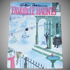 1976 Chas Addams FAVORITE HAUNTS Cartoon Collection Hardcover Book w/ DJ 1st Ed