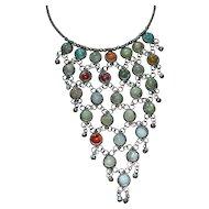 Drippy Genuine Stone Large Bib Wicked Awesome Necklace