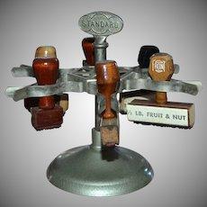 Metal Spinning Standard 6 Slot Rubber Stamper Carousel