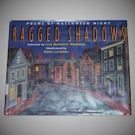 1993 Ragged Shadows: Poems of Halloween Night ~ First Edition Hardcover Book
