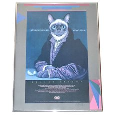 SIGNED Braldt Bralds GORGEOUS VII ANNO 1983 Framed Art Exhibit Poster