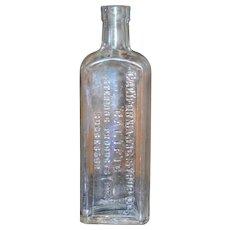 California Fig Syrup Elixir of Senna Laxative Apothecary Glass Bottle