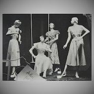 1930s Adler's Department Store Fashion Mannequin Display 8 x 10 Original Photograph