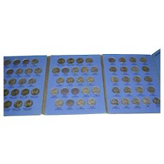 Jefferson Five Cent Nickel Collection 1938 to 1961 Book & Coins ~ Almost Complete!