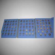 Mercury Ten Cent Dime Collection 1916 to 1945 Book w/ 42 Coins