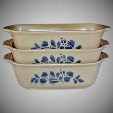 Pfaltzgraff Folk Art Ceramic Pottery Small Loaf Pan ~ 3 Available