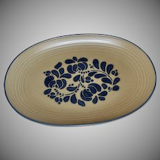 Pfaltzgraff Folk Art Ceramic Pottery Oval Serving Platter
