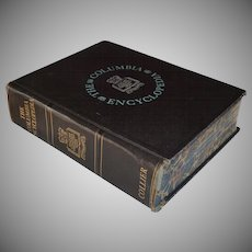 Copyright 1944 The Columbia University Encyclopedia Black Faux Leather Hardcover Book
