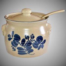 NOS Pfaltzgraff Folk Art Ceramic Pottery 3.5 Qt Tureen with Lid & Ladle