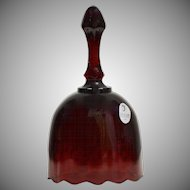 Fenton Art Glass Ruby Red Scalloped Edge Bell ~ Excellent Condition