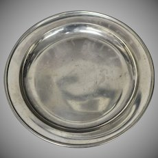 Shirley Pewter Handcrafted Williamsburg Virginia Breakfast or Luncheon Plate