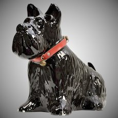Large Black Scottish Terrier 'Scottie Dog' Ceramic Planter or Decoration