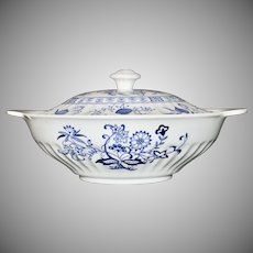 J&G Meakin Blue Nordic English Ironstone Serving Bowl with Lid