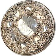 Towle Sterling Ornate Monogrammed Pocket Mirror