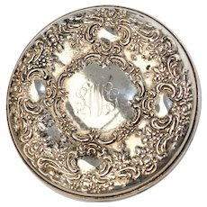 Towle Sterling Ornate Monogrammed Pocket Mirror