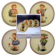 Set OF 4 Hummel Holiday Celebration Plate Series In Boxes