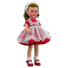 Shirley Temple ST-15 Ideal 1959 Vinyl Doll Original Tagged School Dress