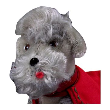 """Steiff 8-1/2"""" Snooby Jointed Poodle with Collar and Coat"""