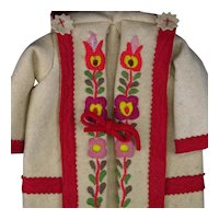 Colorful Embroidery Heavy Felt Coat For Lenci Dolls