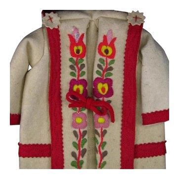 Colorful Embroidery Heavy Felt Coat For Lenci Dolls