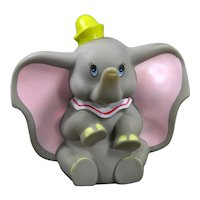 Walt Disney Productions Vinyl Dumbo Circus  Elephant 1960's Squeak Toy
