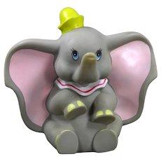 Walt Disney Productions Vinyl Dumbo Circus  Elephant 1960's Squeak Toy