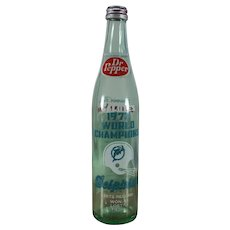 Dr Pepper 1972 World Champions Bottle Miami Dolphins Orange Bowl