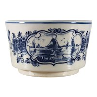 Delfts Blauw Hand painted Dish Holland Windmill Ships