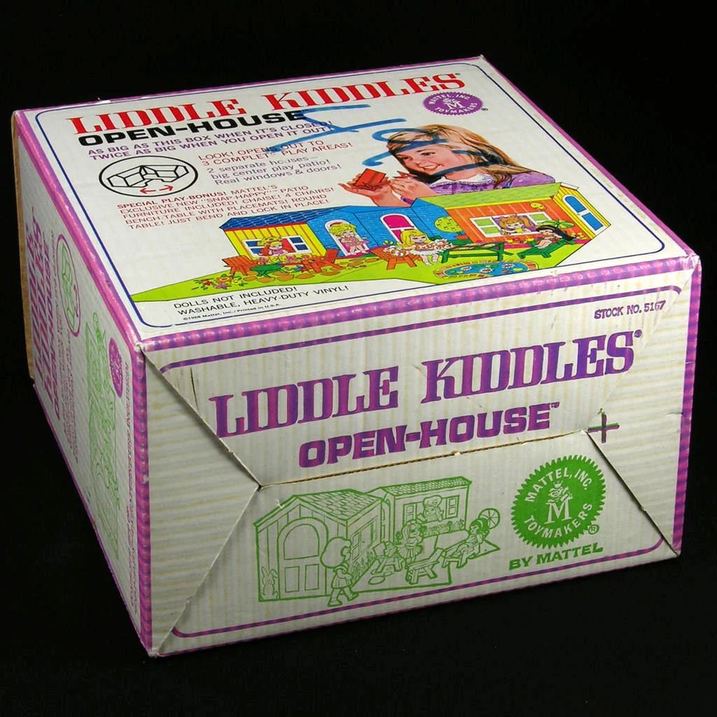 Mattel Liddle Kiddles Open House 1968 Complete With