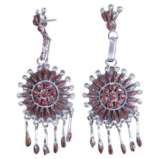 Zuni Coral Earrings-Free Shipping!