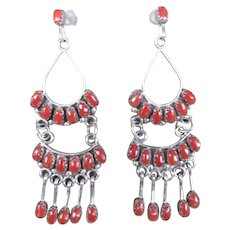 Zuni Coral Earrings