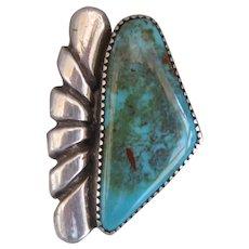 Vintage Navajo Bisbee Turquoise Ring