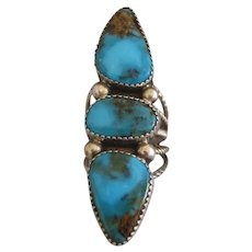 Vintage Bisbee Turquoise Ring-SPECTACULAR!!