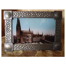 Vintage photo on glass St. Mary's Church, Lubeck, Germany