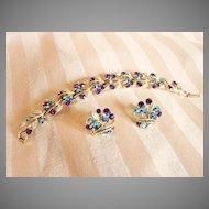 Vintage Lisner Bracelet and Earrings Set