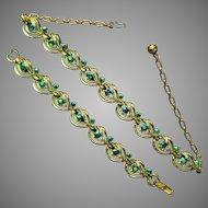 Pakula Aurora Borealis Necklace and Bracelet Set