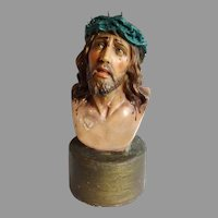 Jesus with Crown of Thorns Chalk Bust