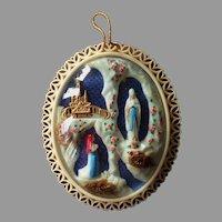 Large Souvenir Diorama of Our Lady of Lourdes Devotional