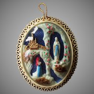 Large Souvenir Diorama of Our Lady of Lourdes Devotional