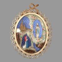 Our Lady of Lourdes Devotional Souvenir Diorama