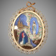 Our Lady of Lourdes Devotional Souvenir Diorama