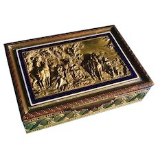 French Dresser Box with Enamel and Gilding