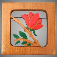 Wood Cut-Out and Painted Pin/Brooch