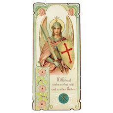 Archangel Michael Holy Card