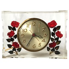 Reverse Carved Acrylic Clock